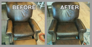 Furniture color restoration - Premier Leather Restoration client results