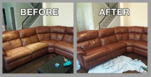Leather Couch Restoration in Austin, TX by Premier Leather Restoration