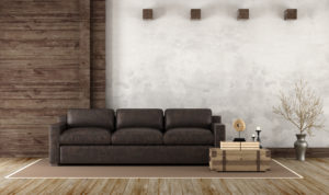 Leather couch home furnishing